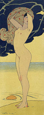 Nipple Drawing - La Riviere De La Foret by Georges Barbier