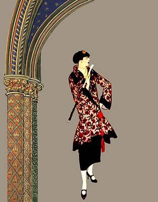 Digital Art - La Robe  by Asok Mukhopadhyay