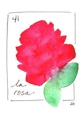 Painting - La Rosa by Anna Elkins