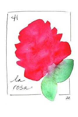 Painting - La Rosa by Anna Elkins