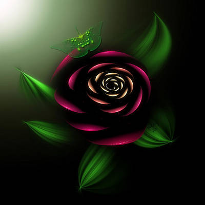 Digital Art - La Rosa by Karla White