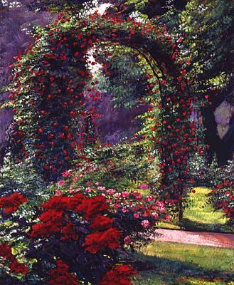 Blooming Painting - La Rosaeraie De Bagatelle by David Lloyd Glover