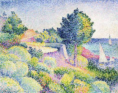 Edmond Cross Painting - La Route Sur La Cote by Henri-Edmond Cross
