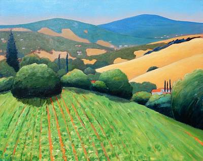 Rolling Hills Vinyards Painting - La Rusticana Revisited by Gary Coleman