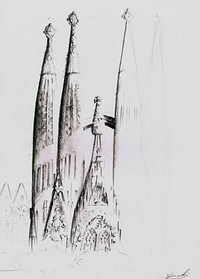 La Sagrada Familia Art Print by Hiroki Uchida