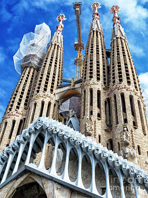Photograph - La Sagrada Familia Profile Barcelona by John Rizzuto