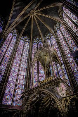 Photograph - Paris, France - La-sainte-chapelle - Apse And Canopy by Mark Forte