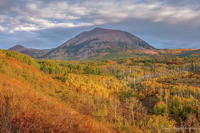 Photograph - La Sal Mountain Colors by Thomas Pettengill