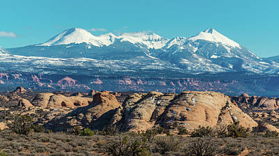Photograph - La Sal Mountain View by Harry Strharsky