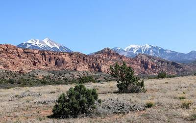 Photograph - La Sal Mountains - 2 by Christy Pooschke