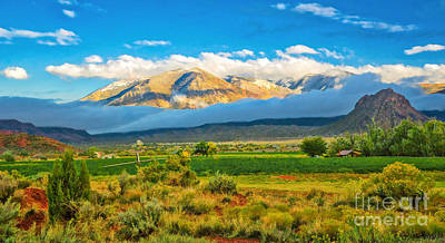 Photograph - La Sal Mountains And Castle Valley At Sunset by Priscilla Burgers