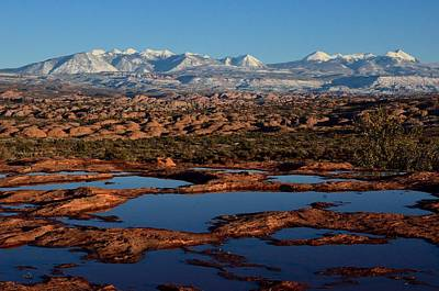 Photograph - La Sal Mountains And Ephemeral Pools by Tranquil Light  Photography