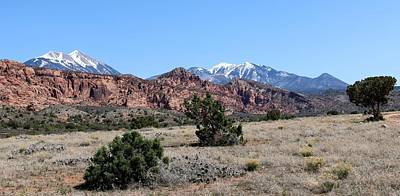 Photograph - La Sal Mountains  by Christy Pooschke
