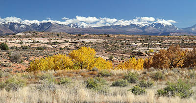 Photograph - La Sal Mountains In Arches National Park by Pierre Leclerc Photography
