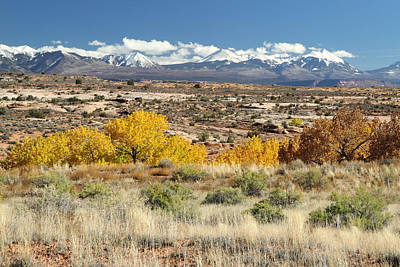 Photograph - La Sal Mountains In Autumn  by Pierre Leclerc Photography