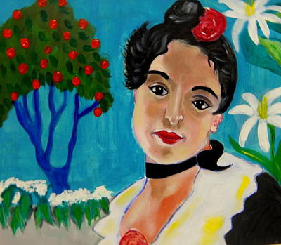 Painting - La Senorita De Valencia by Rusty Woodward Gladdish