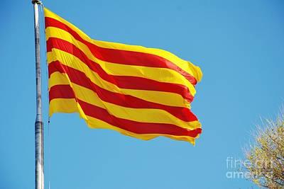 Photograph - La Senyera The Flag Of Catalonia by David Fowler