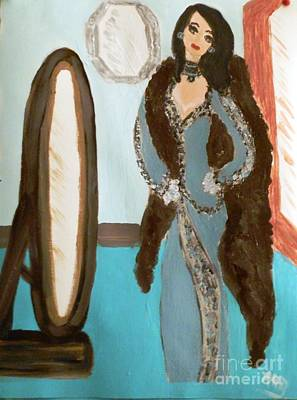 Vain Painting - La Shai Mirror Mirror Mirror On The Wall. by Marie Bulger