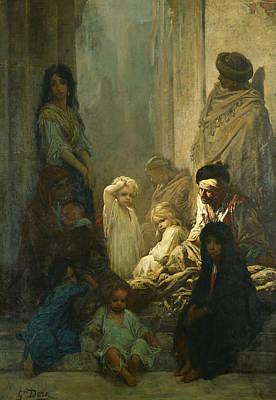 Painting - La Siesta, Memory Of Spain by Gustave Dore