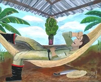 Campesinos Painting - La Siesta by Wanda Pedrosa