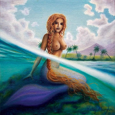 Puerto Rico Painting - La Sirena De Rincon by Kelly Meagher