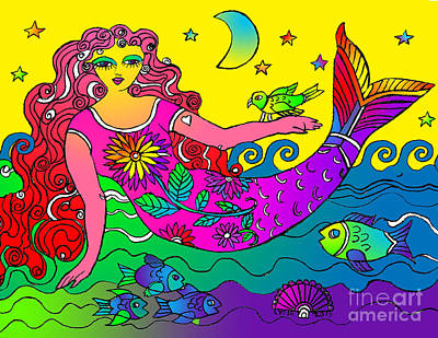 Drawing - La Sirena by Lydia L Kramer