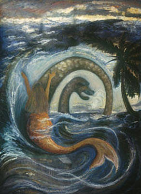 Vodou Painting - La Sirene Rabbah by Barbara Nesin