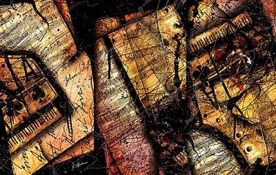 Composer Digital Art - La Sonate De Ace Noir by Gary Bodnar