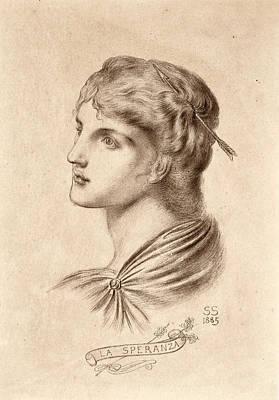 Drawing - La Speranza by Simeon Solomon