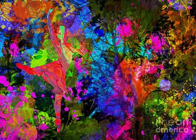 Framed Digital Art Mixed Media - La Sylphide by Olga Hamilton