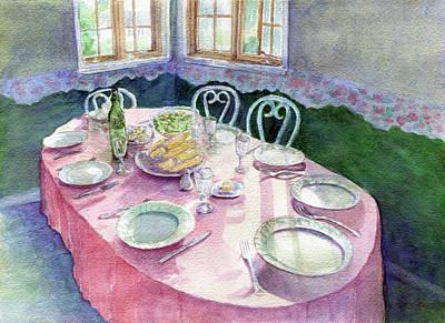 La Table De Fernande Art Print