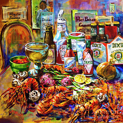 Food And Beverage Wall Art - Painting - La Table De Fruits De Mer by Dianne Parks