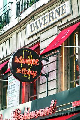 Photograph - La Taverne De Cluny Paris by John Rizzuto