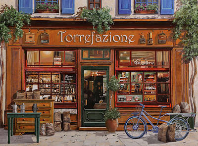 Shadows Painting - La Torrefazione by Guido Borelli