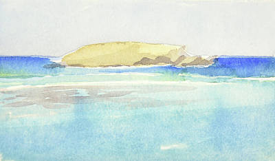Painting - La Tortue, St Barthelemy, 1996 100x60 Cm by Marica Ohlsson