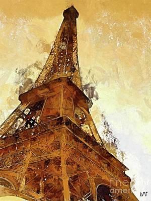City Scenes Digital Art - La Tour Eiffel by Dragica Micki Fortuna