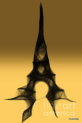 Digital Art - La Tour Eiffel by Michael Canning