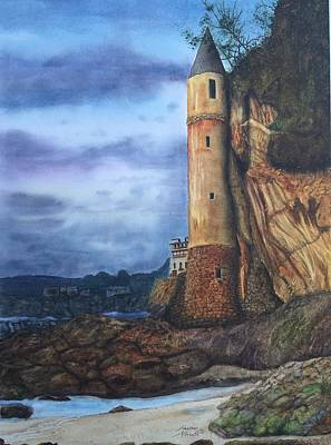 Laguna Beach Painting - La Tour by Heather Norseth