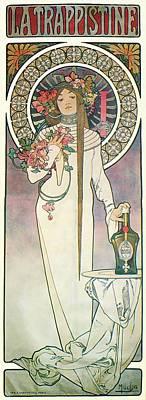 Painting - La Trappistine by Alphonse Mucha