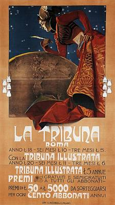 Royalty-Free and Rights-Managed Images - La Tribuna Roma - Vintage Exposition Poster by Studio Grafiikka