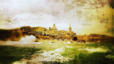 Mixed Media - La Valletta by Lucia Sirna