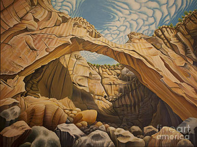 Painting - La Vantana Natural Arch by Tish Wynne