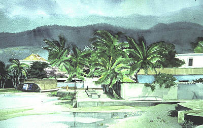 Art Print featuring the painting La Vela by Douglas Teller