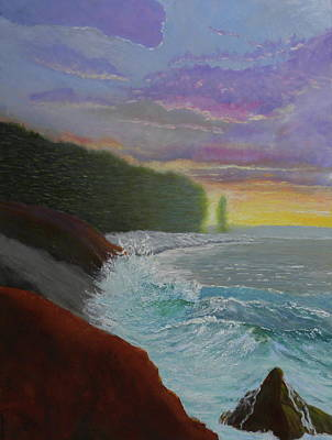 Painting - La Verna Sunrise by Scott W White