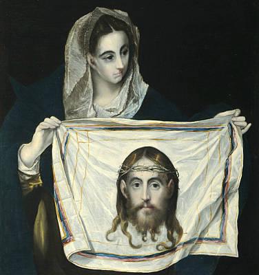 Painting - La Veronica Con La Santa Faz  by El Greco