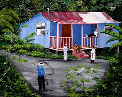 Jibaros Painting - La Vida En Las Montanas De Moca by Luis F Rodriguez