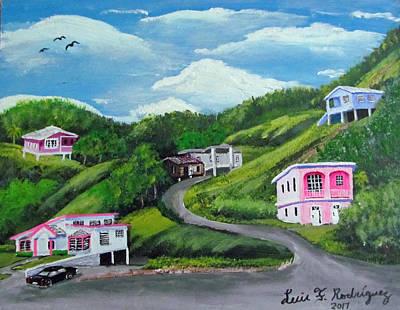 Painting - la Vida En Las Montanas by Luis F Rodriguez