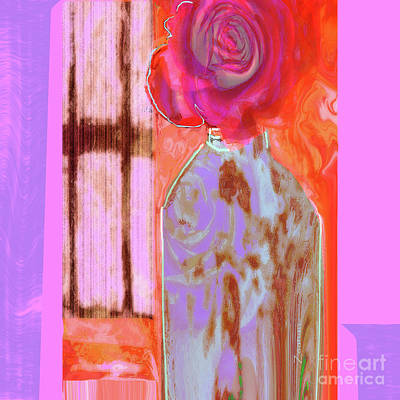 Mixed Media Royalty Free Images - La Vie en Rose  1 Royalty-Free Image by Zsanan Studio