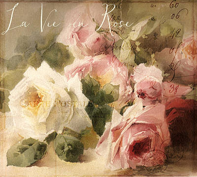 Wilt Painting - La Vie En Rose by Mindy Sommers