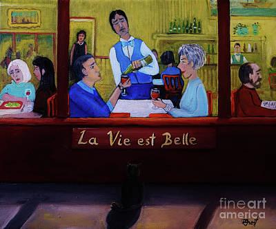 Montreal Painting - La Vie Est Belle by Reb Frost